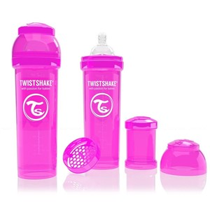 Twistshake Anticolic 330 ml Biberon Pembe