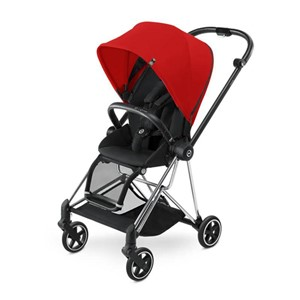 Cybex Mios Bebek Arabası - Chrome - Stardust Black/Infra Red
