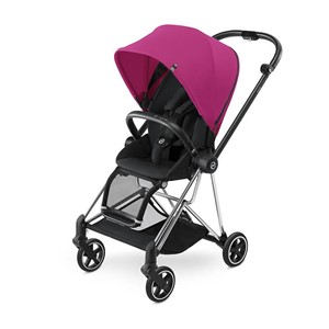 Cybex Mios Bebek Arabası - Chrome - Stardust Black/Pink Purple