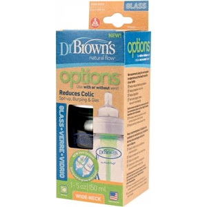 Dr Browns Options Geniş Ağız Cam Biberon 150 ml Standart