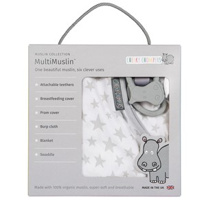 Cheeky Chompers MultiMuslin - Silver Stars