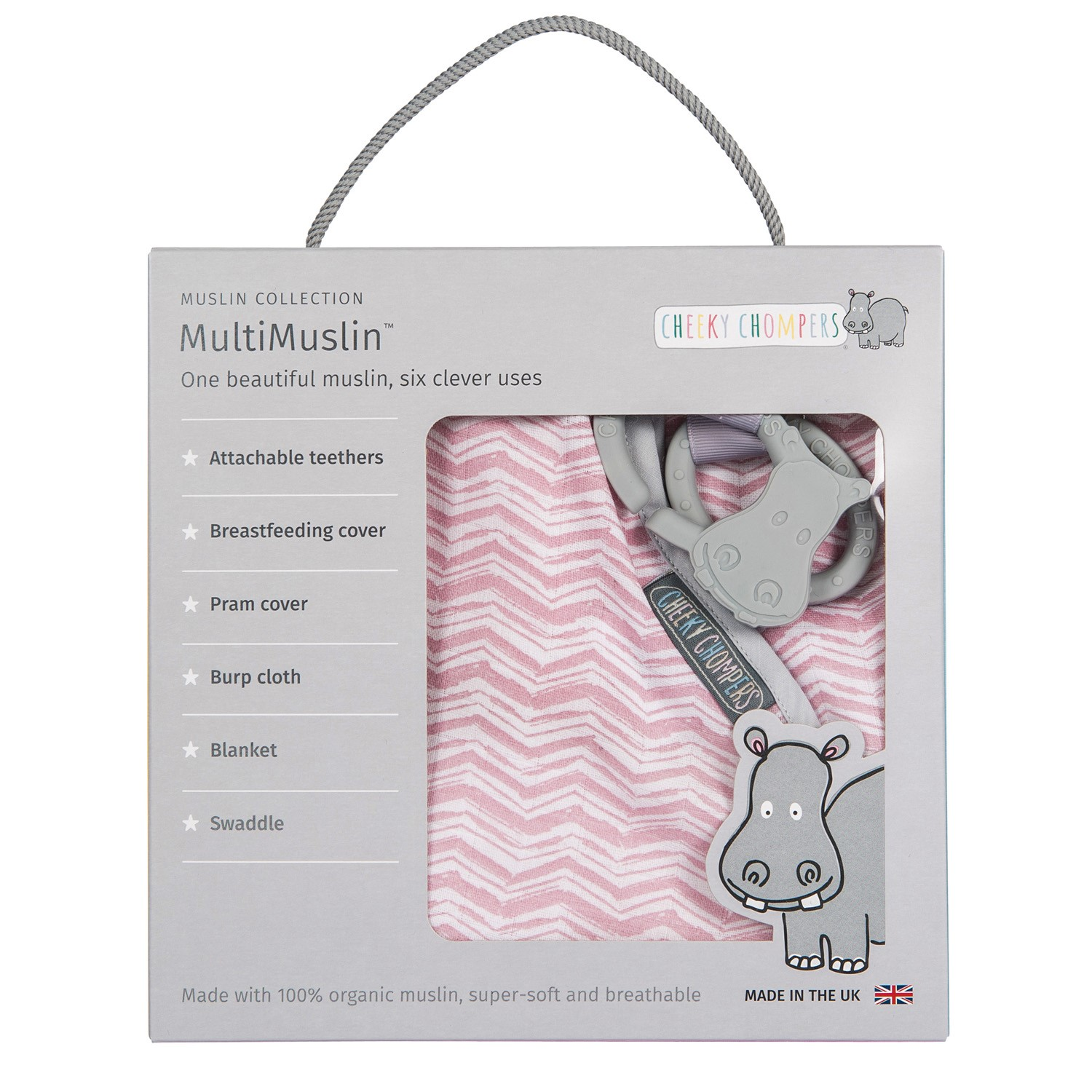 Cheeky Chompers MultiMuslin - Rosy Days
