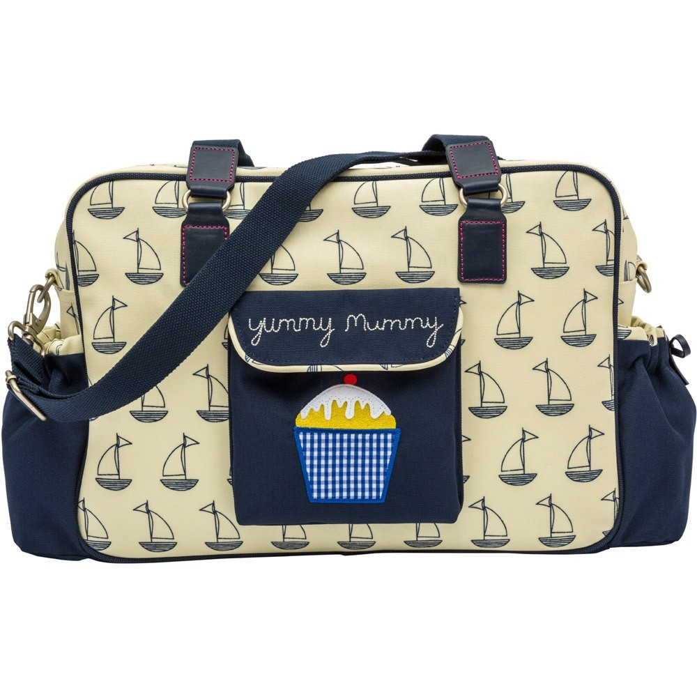 Pink Lining Yummy Mummy - Navy And Cream Boat