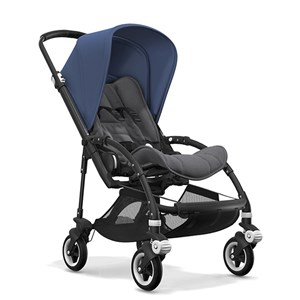 Bugaboo Bee5 Bebek Arabası Black/ Grey Melange - Sky Blue