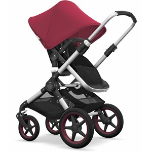 Bugaboo Fox Puset Alu/ Black - Ruby Red