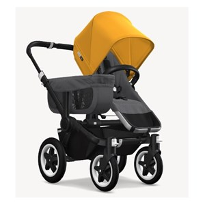Bugaboo Donkey2 Mono Bebek Arabası Black / Grey Melange / Sunrise Yellow