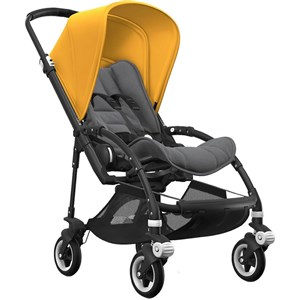 Bugaboo Bee5 Bebek Arabası Black / Grey Melange - Sunrise Yellow