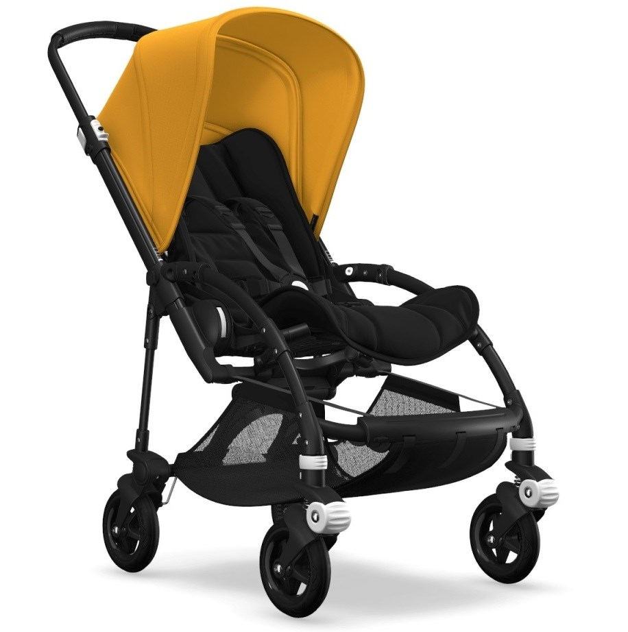 Bugaboo Bee5 Bebek Arabası Black/ Black - Sunrise Yellow