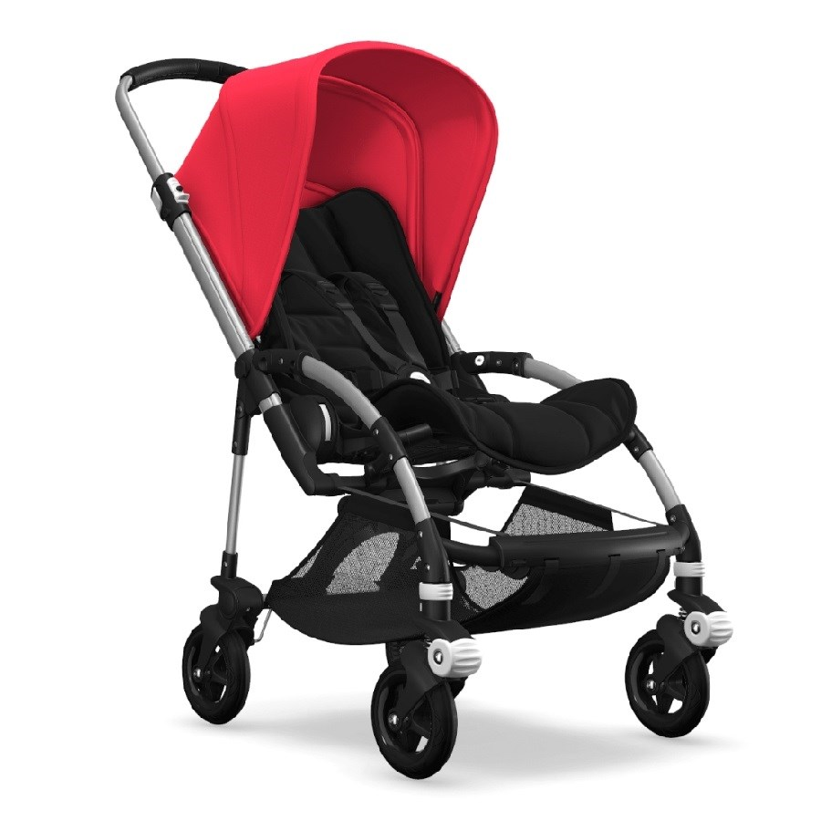 Bugaboo Bee5 Bebek Arabası Alu/ Black - Neon Red