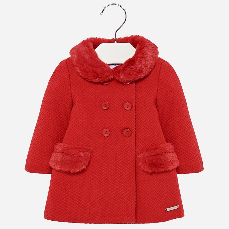 d907b3b5f53 Mayoral Kız Bebek Kışlık Örme Palto Kırmızı Bebekhouse.com'da