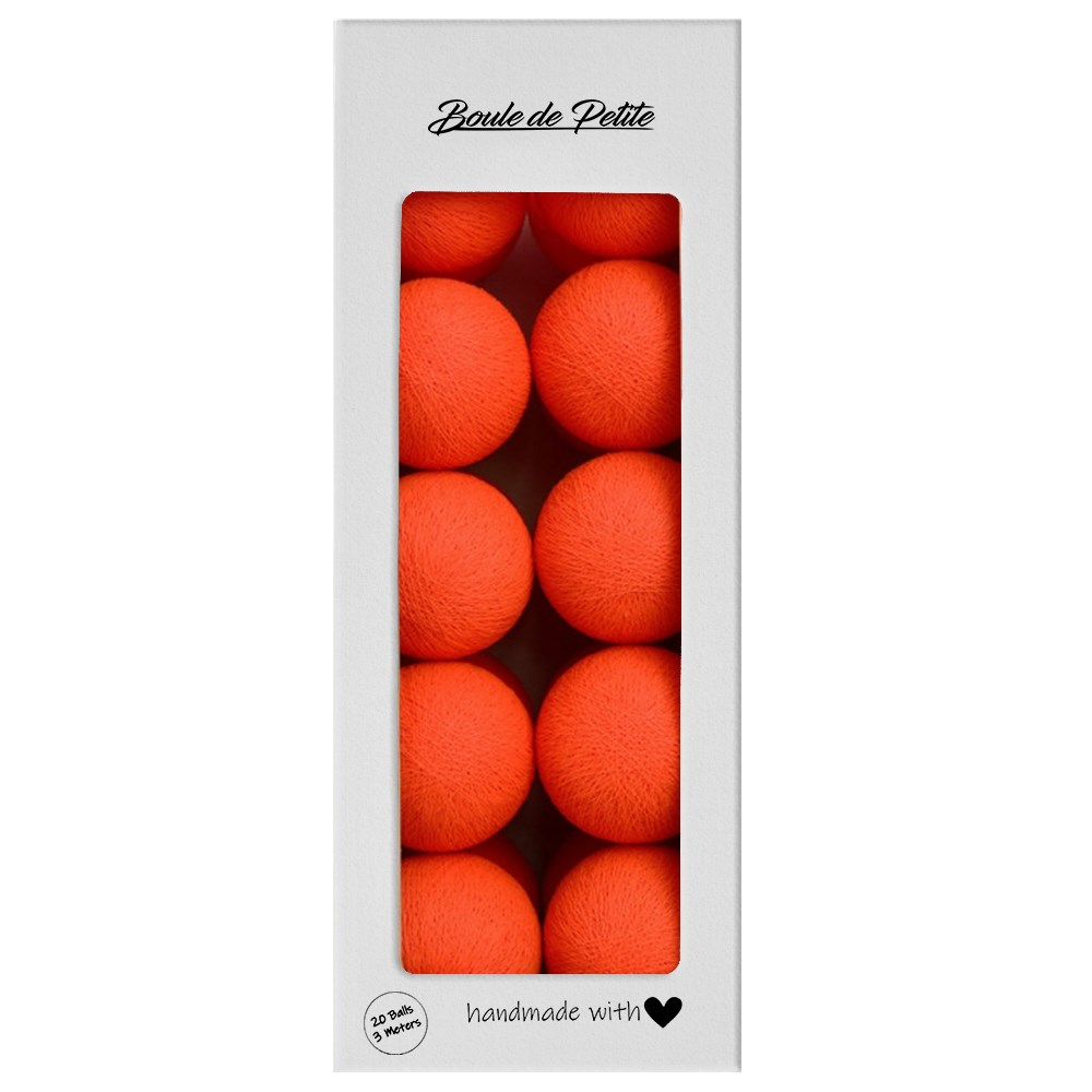 Boule De Petite Işıklı Top Neon Orange