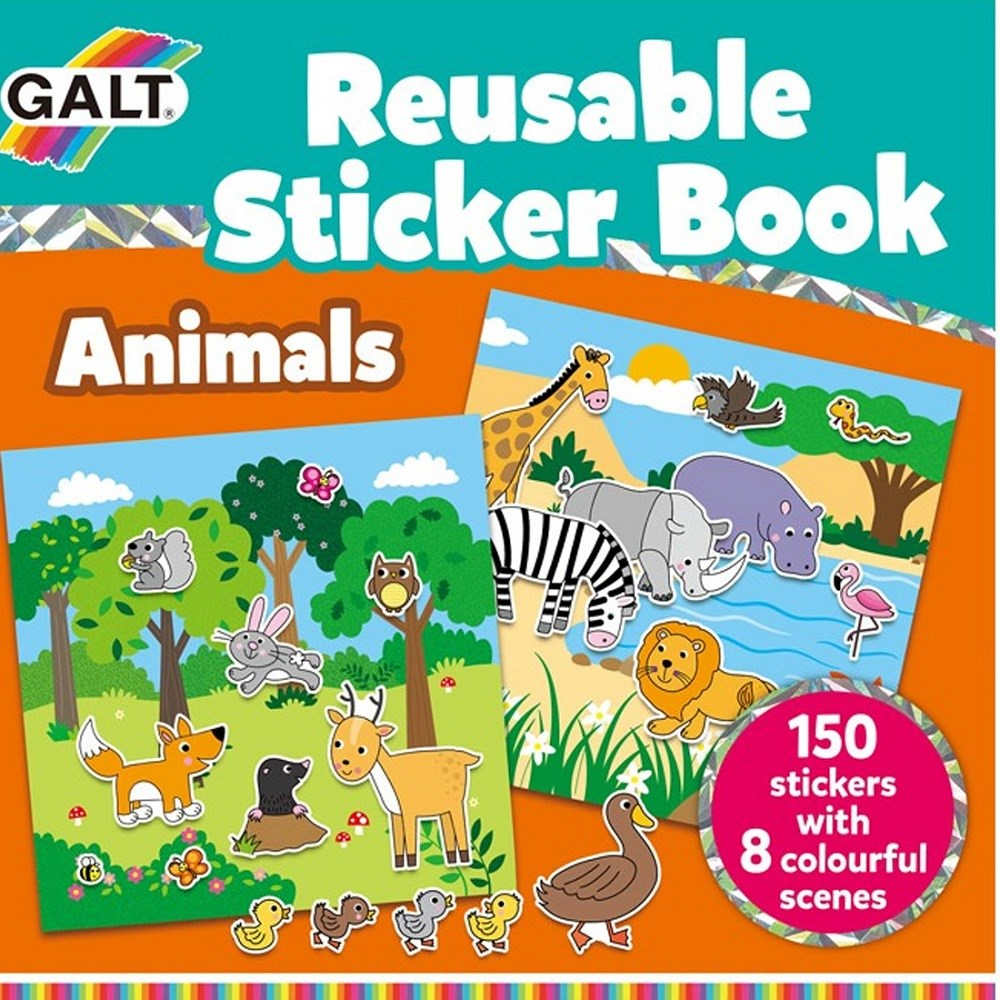 Galt Reusable Sticker Animal Çıkartma Kitabı 3 Yaş+
