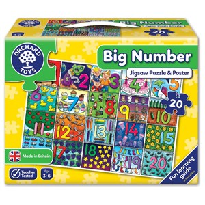 Orchard Big Number Puzzle 3-6 Yaş +