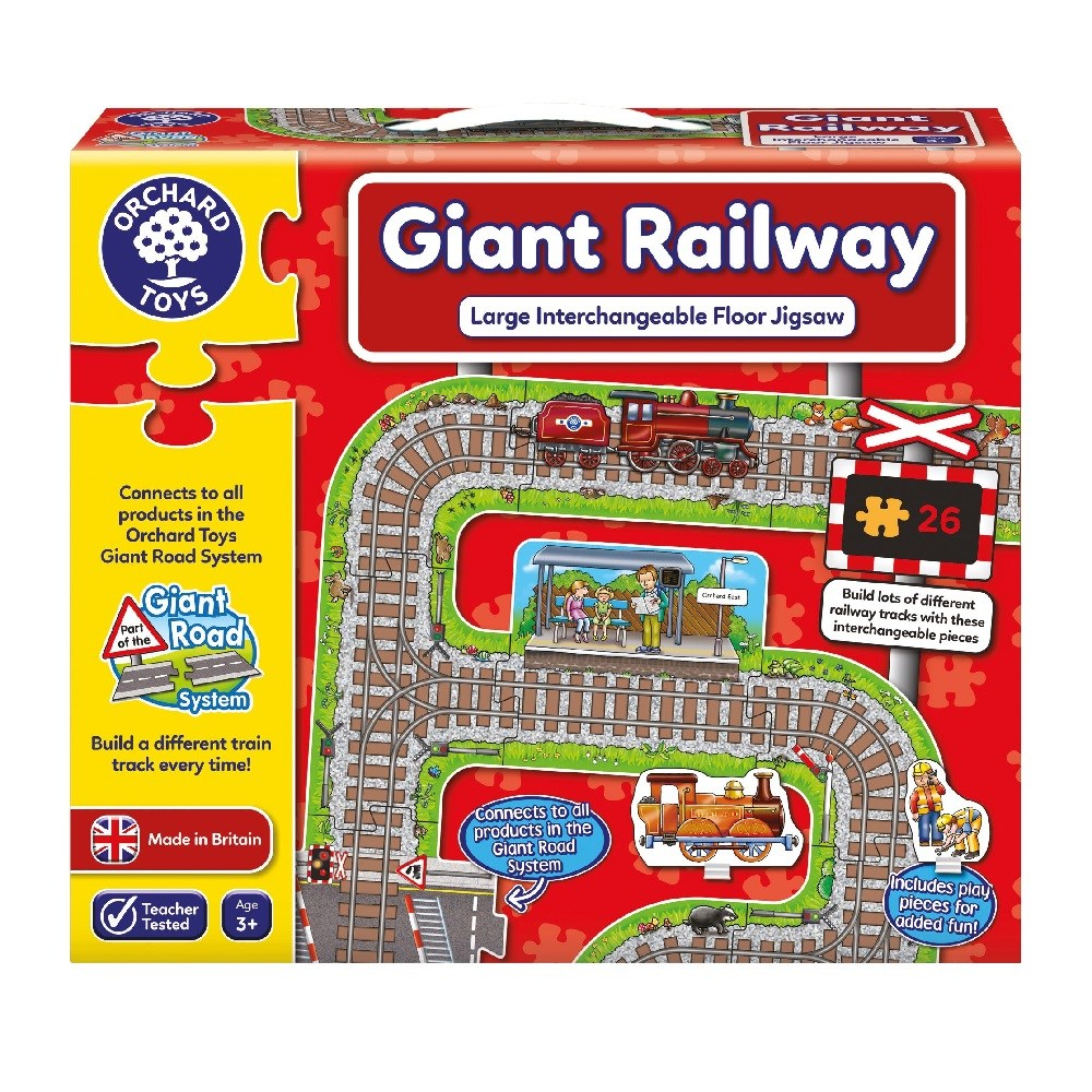 Orchard Giant Railway Puzzle 3 Yaş +